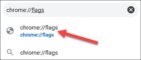 ir a la página de banderas de Chrome