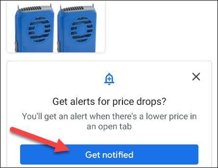 Recibe notificaciones de bajadas de precios.
