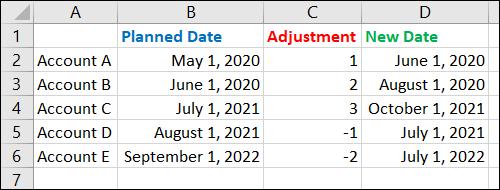 Nuevas fechas ajustadas
