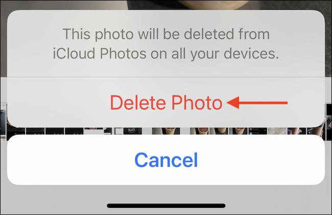 """Seleccione la opción """"Eliminar foto"""" o """"Eliminar video"""" para eliminar el medio."""