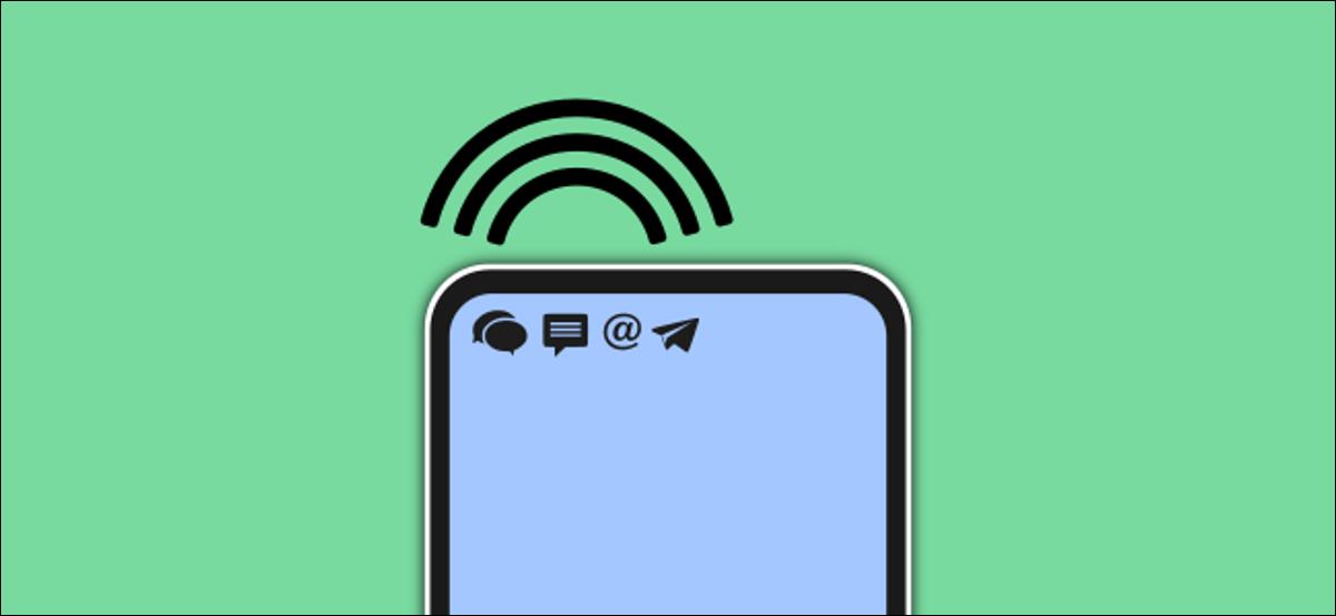 Sonido de notificación procedente de un teléfono Android