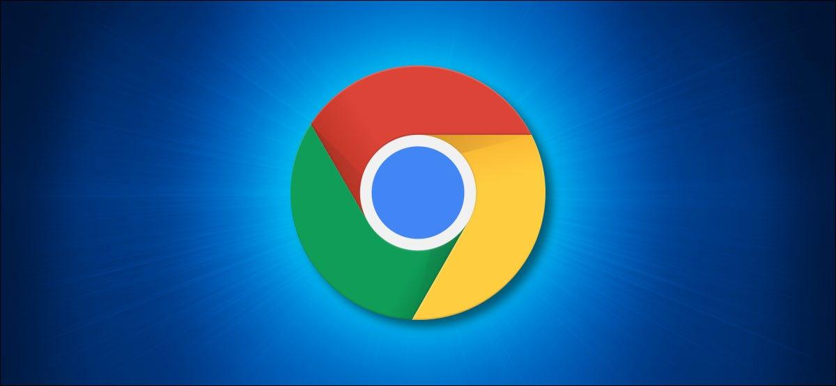 Logotipo de Google Chrome sobre un fondo azul