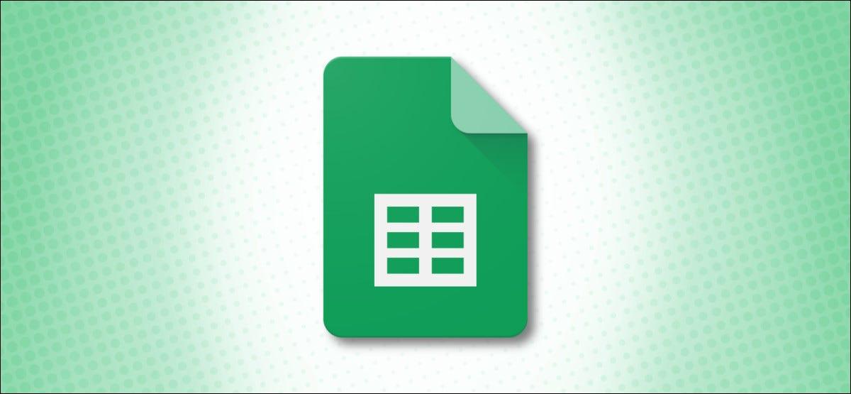 Logotipo de Google Sheets sobre fondo verde