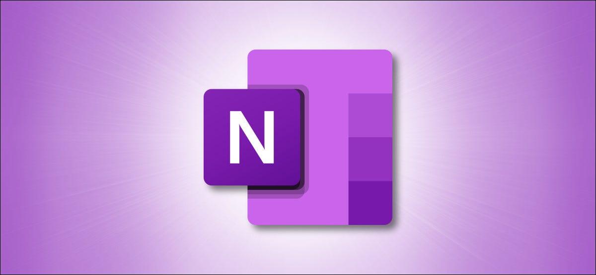Logotipo de Microsoft OneNote sobre fondo morado