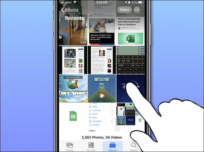 Toque la miniatura de una sola foto en la aplicación Fotos en iPhone para abrirla.