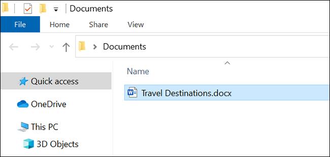Busque el documento de Google Docs descargado en el administrador de archivos.