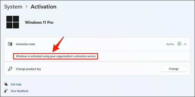 Más detalles sobre el estado de activación de Windows 11.