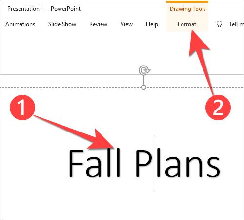 """Seleccione el texto que desea personalizar y haga clic en la pestaña """"Formato""""."""