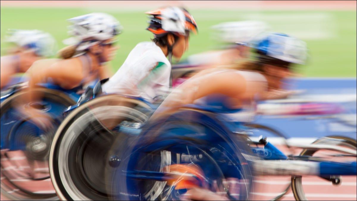 Atletas en silla de ruedas