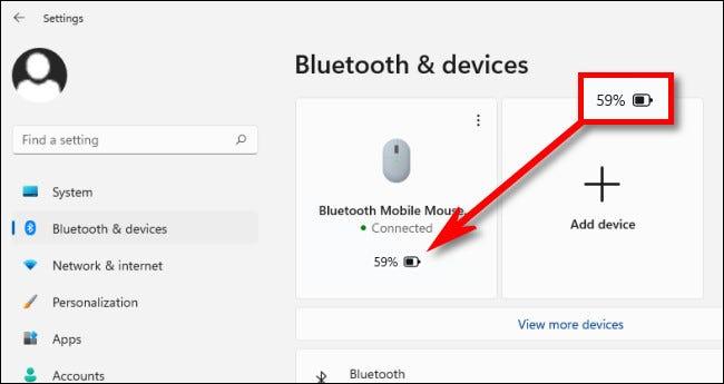 Si su dispositivo lo admite, verá la duración de la batería en el cuadro del dispositivo justo debajo del nombre.