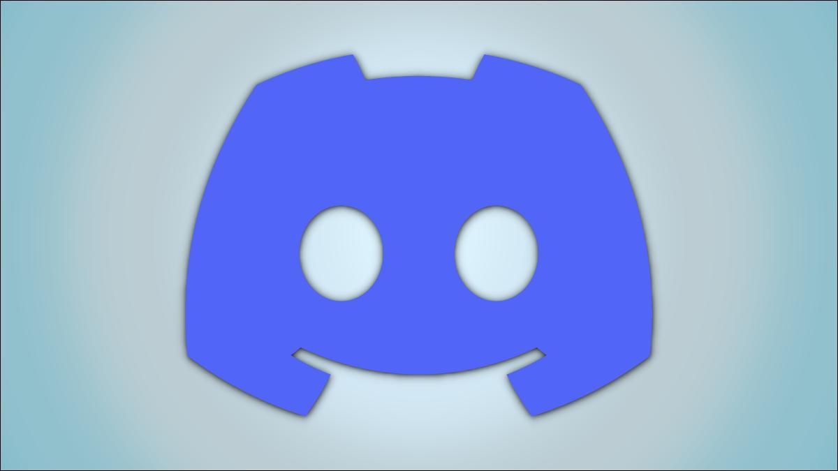Logotipo de Discord sobre un fondo de color de dos tonos.