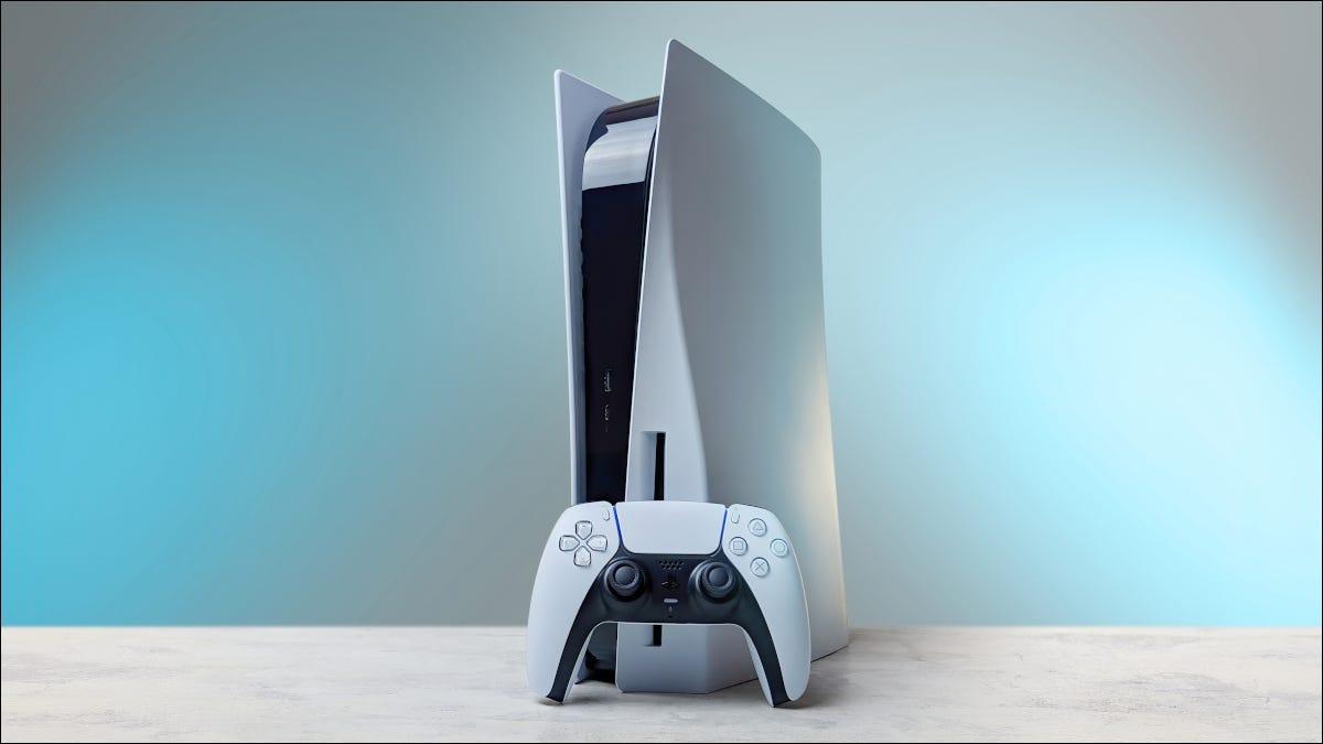 Consola y control remoto Playstation 5 blanco