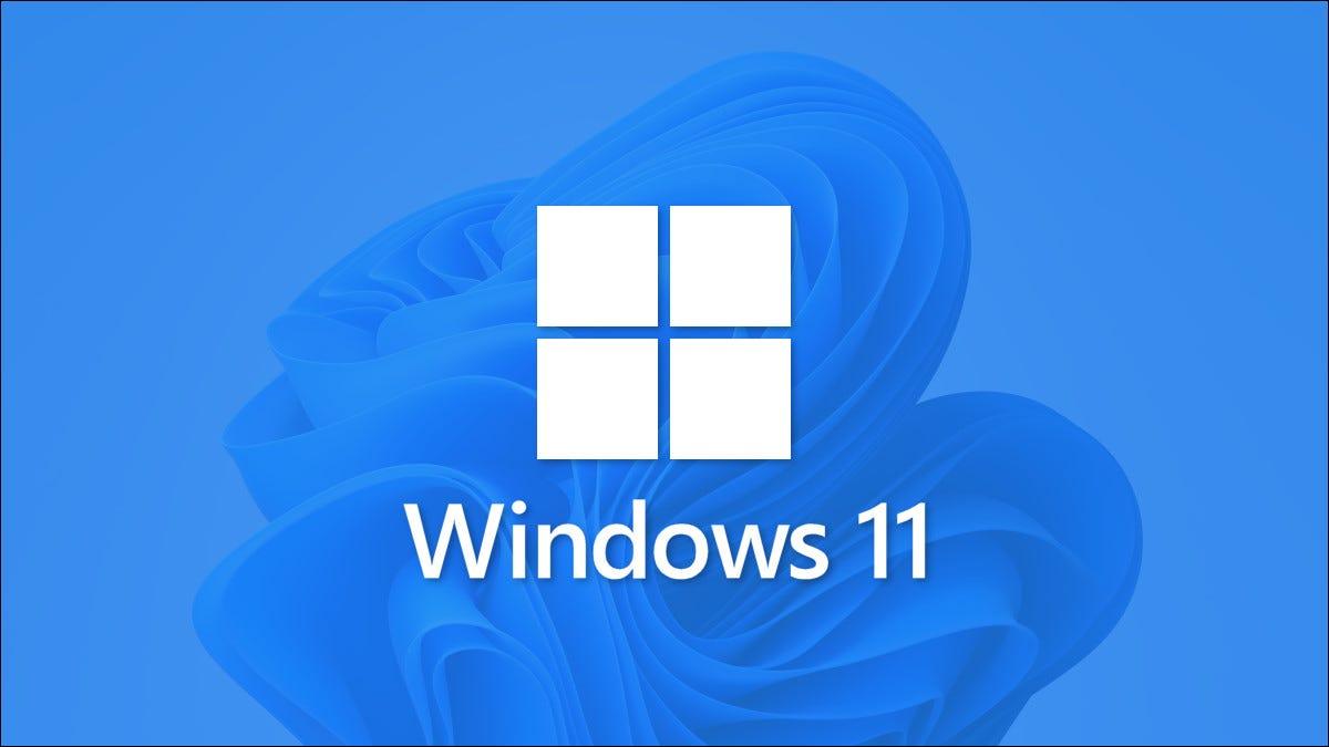 Logotipo de Windows 11 con papel tapiz